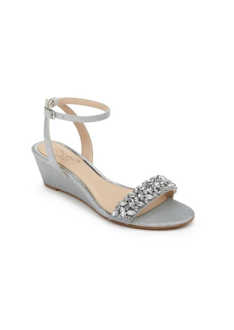 Jewel Badgley Mischka Bellevue Evening Wedge Sandal Women's Shoes