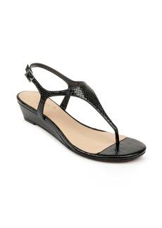 Jewel Badgley Mischka Brea Snake Embossed Wedge Sandal (Women)