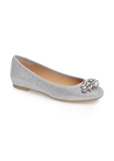 Jewel Badgley Mischka Cabella Embellished Ballet Flat (Women)