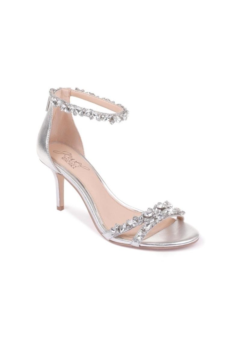 Jewel Badgley Mischka Caroline Embellished Ankle-Strap Evening Sandals Women's Shoes
