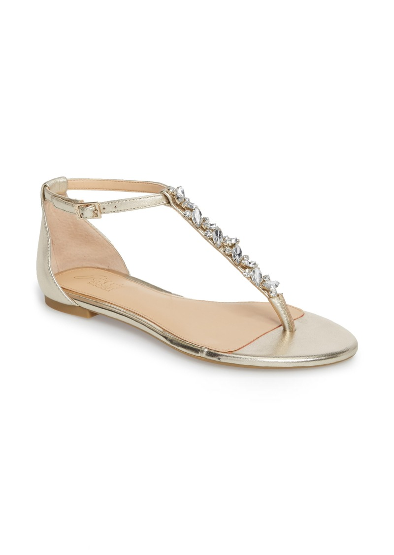 b6c38f17738 Badgley Mischka Jewel Badgley Mischka Carrol Embellished T-Strap ...