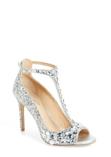 Jewel Badgley Mischka Conroy Embellished T-Strap Pump (Women)