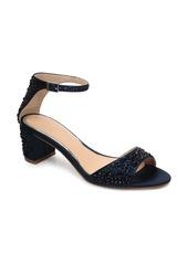 Jewel Badgley Mischka Crystal Block Heel Sandal (Women)