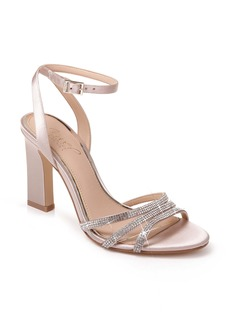Jewel Badgley Mischka Crystal Embellished Ankle Strap Sandal (Women)