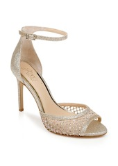 Jewel Badgley Mischka Crystal Embellished Sandal (Women)