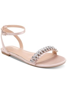 Jewel Badgley Mischka Dalinda Flat Evening Sandals Women's Shoes