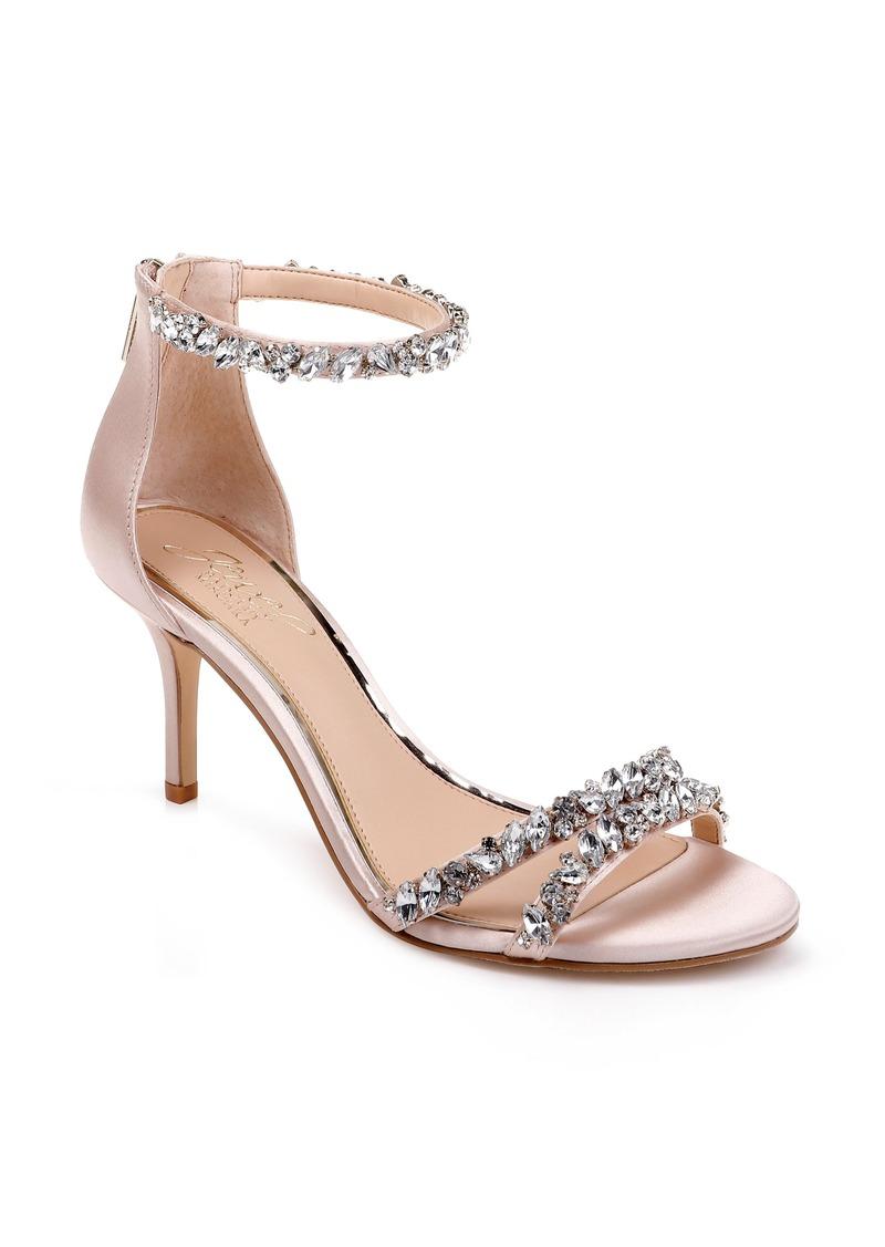 Jewel Badgley Mischka Darlene Embellished Ankle Strap Sandal (Women)
