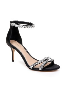 Jewel Badgley Mischka Darlene Embellished Ankle Strap Sandal (Women)