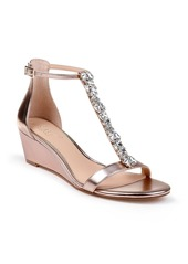Jewel Badgley Mischka Darrell Embellished Wedge Sandal (Women)