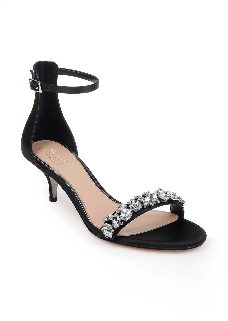 Jewel Badgley Mischka Dash Embellished Halo Strap Sandal (Women)