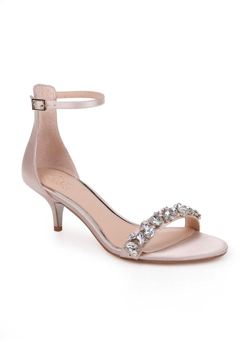 Jewel Badgley Mischka Dash Embellished Halo Strap Sandal (Women)