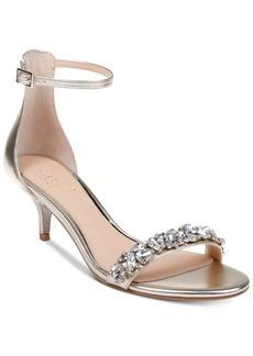 Jewel Badgley Mischka Dash Kitten-Heel Evening Sandals Women's Shoes