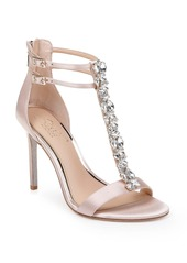 Jewel Badgley Mischka Daughtry Embellished T-Strap Sandal (Women)