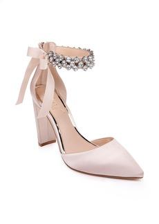 Jewel Badgley Mischka Deirdra Ankle Strap Pump (Women)