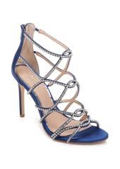 Jewel Badgley Mischka Delancey Crystal Embellished Cage Sandal (Women)