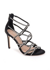 Jewel Badgley Mischka Delancey Crystal Embellished Cage Sandal (Women)