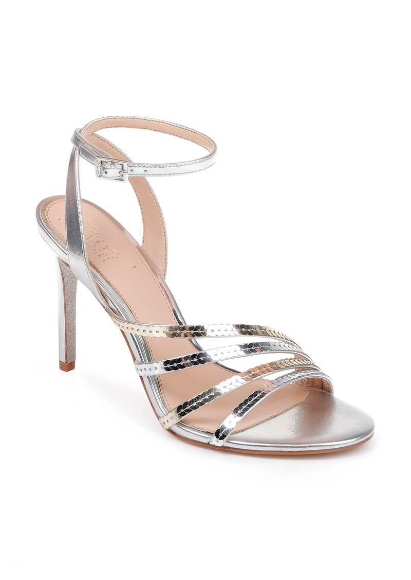 Jewel Badgley Mischka Devonee Sequin Sandal (Women)