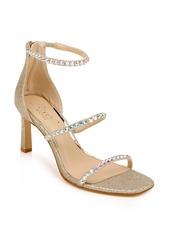 Jewel Badgley Mischka Ellis Embellished Ankle Strap Sandal (Women)