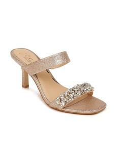 Jewel Badgley Mischka Fabe Crystal Strap Slide Sandal (Women)