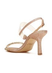 Jewel Badgley Mischka Fairwell Crystal Clear Strap Sandal (Women)