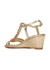 Jewel Badgley Mischka Farah Crystal Embellished Wedge Sandal (Women)