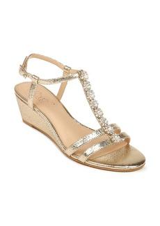 Jewel Badgley Mischka Farah Crystal Embellished Wedge Sandal (Women)