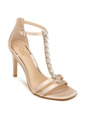 Jewel Badgley Mischka Farida Crystal Embellished T-Strap Sandal (Women)
