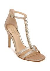 Jewel Badgley Mischka Farida Crystal Embellished T-Strap Sandal (Women)