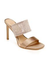 Jewel Badgley Mischka Ferris Crystal Band Slide Sandal (Women)