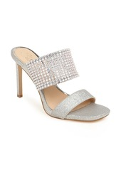Jewel Badgley Mischka Ferris Crystal Band Slide Sandal (Women)