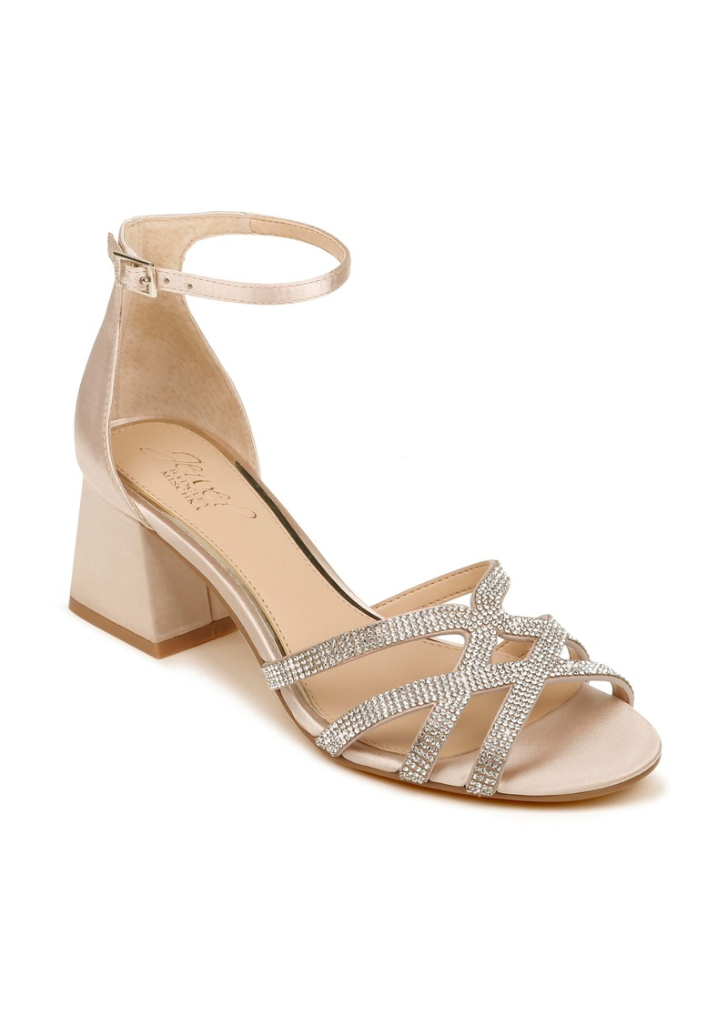 Jewel Badgley Mischka Fidelia Ankle Strap Sandal (Women)