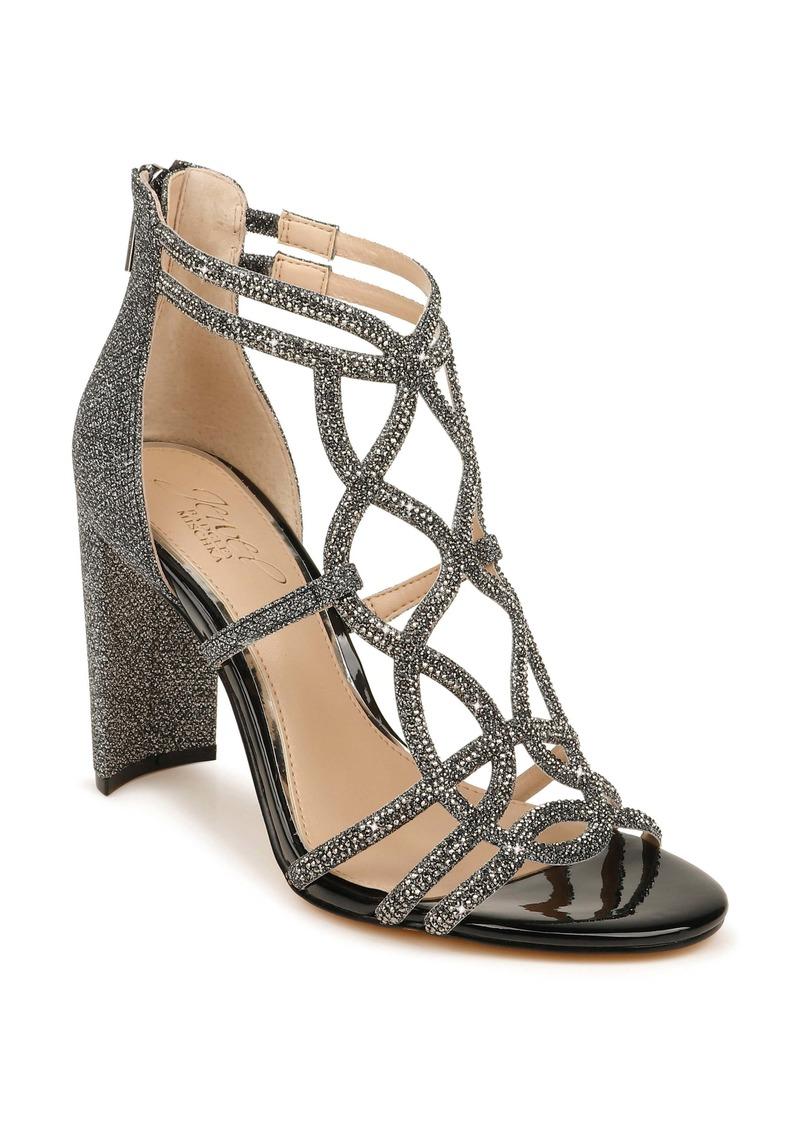 Jewel Badgley Mischka Filimena Glitter Sandal (Women)