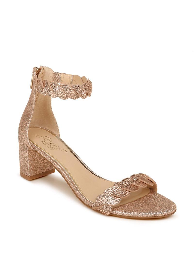 Jewel Badgley Mischka Finna Embellished Ankle Strap Sandal (Women)