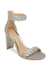 Jewel Badgley Mischka Fionne Glitter Embellished Sandal (Women)