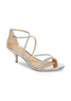 Jewel Badgley Mischka Gal Glitter Kitten Heel Sandal (Women)