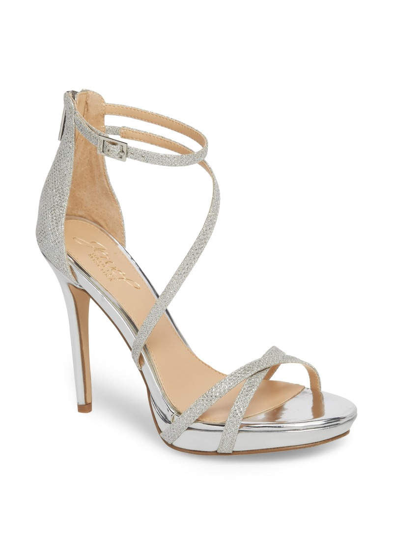 Jewel Badgley Mischka Galen Strappy Platform Sandal (Women)