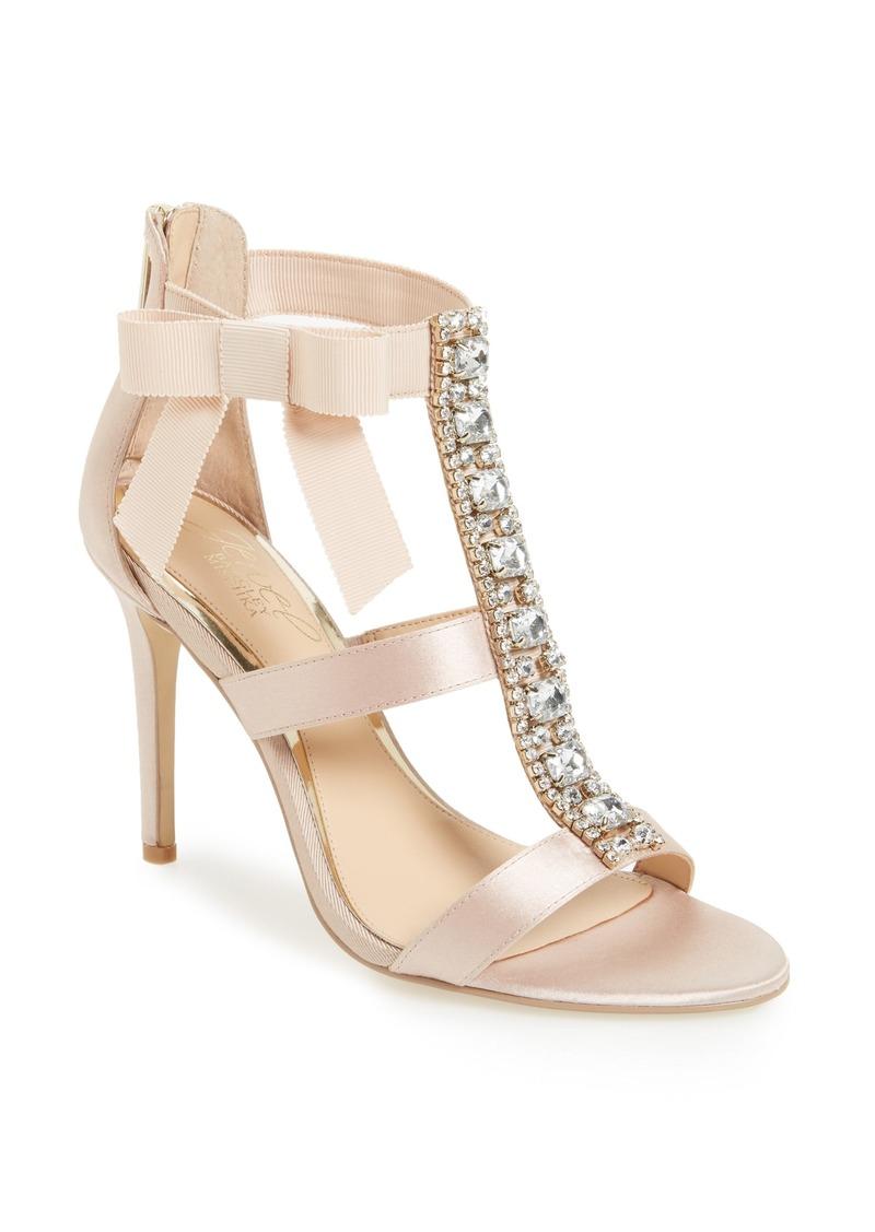 Jewel Badgley Mischka Henderson Embellished Bow Sandal (Women)