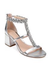 Jewel Badgley Mischka Janica Block Heel Sandal (Women)