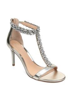 Jewel Badgley Mischka Janna Embellished T-Strap Sandal (Women)