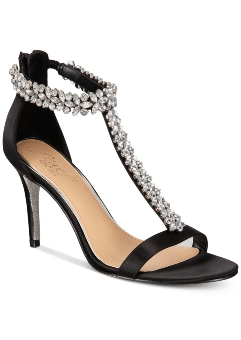 Jewel Badgley Mischka Janna Embellshed Evening Sandals Women's Shoes