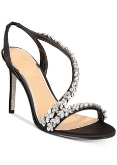 Jewel Badgley Mischka Java Embellished Evening Sandals Women's Shoes