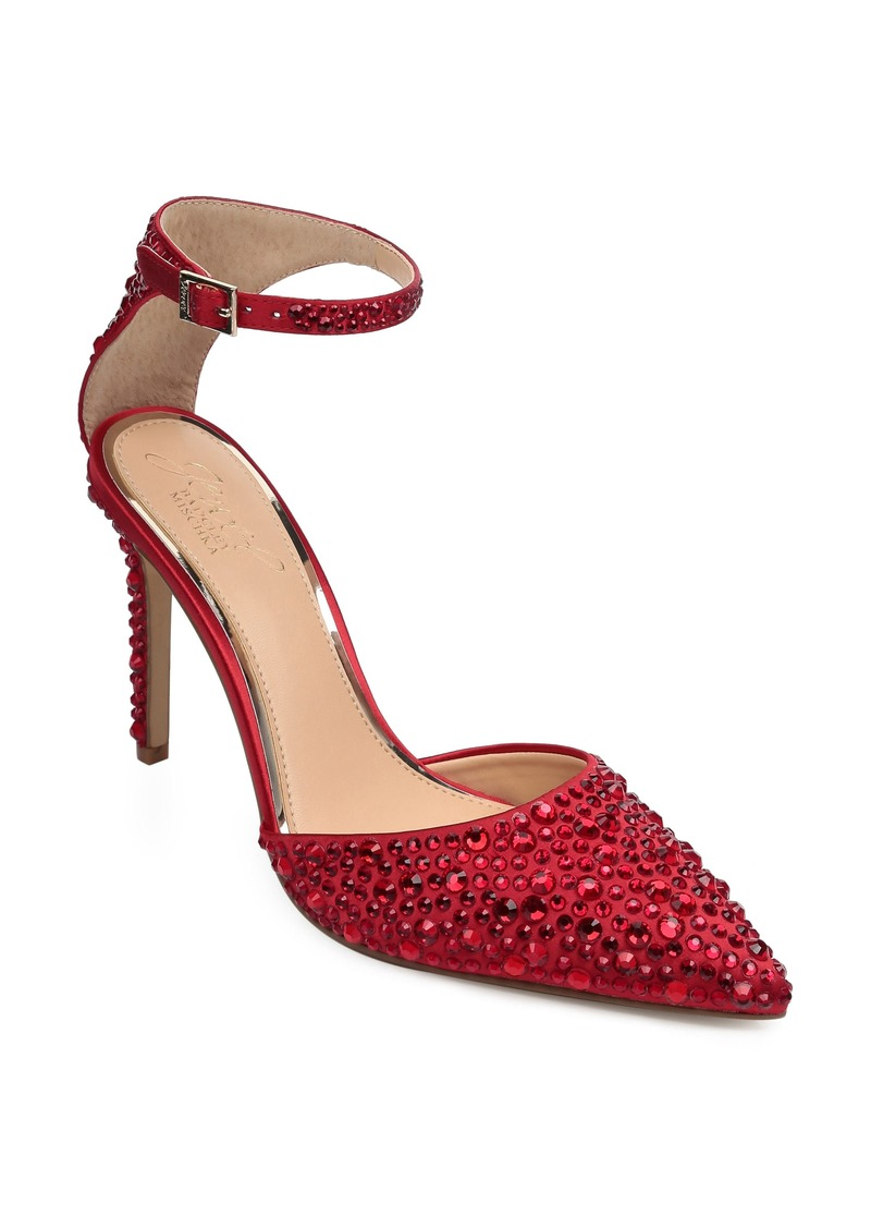 Jewel Badgley Mischka Jimena Ankle Strap Pump (Women)
