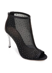 Jewel Badgley Mischka Jodie Crystal Embellished Mesh Bootie (Women)