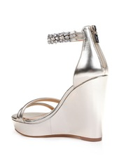 Jewel Badgley Mischka Kathleen Ankle Strap Wedge Sandal (Women)