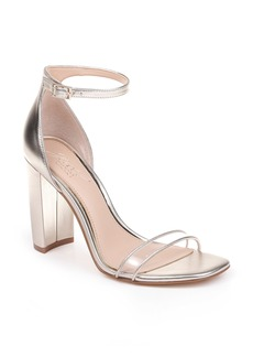 Jewel Badgley Mischka Keshia II Clear Ankle Strap Sandal (Women)