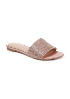 Jewel Badgley Mischka Khaleesi Crystal Slide Sandal (Women)