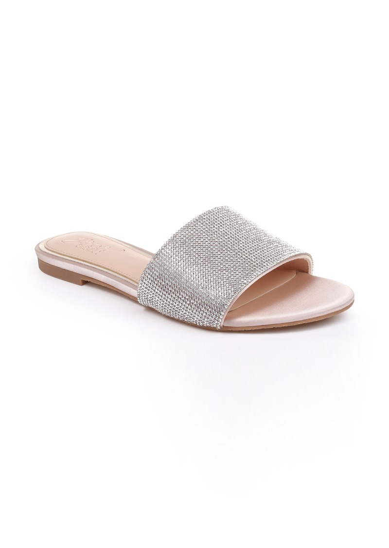 Jewel Badgley Mischka Khaleesi Crystal Slide Sandal (Women)
