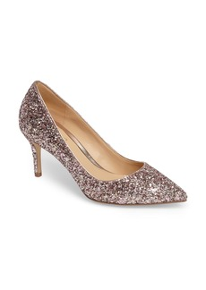 Jewel Badgley Mischka Lyla Glitter Pointy Toe Pump (Women)