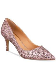 Jewel Badgley Mischka Lyla Glittered Evening Pumps Women's Shoes