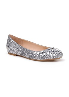 Jewel Badgley Mischka Mathilda Embellished Ballet Flat (Women)